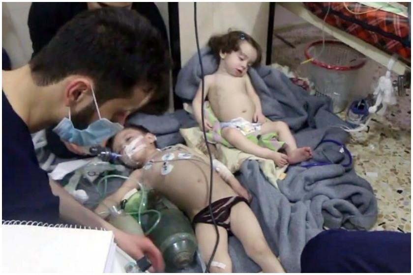 ღუტაში ქიმიური თავდასხმისას დაშავებული ბავშვები