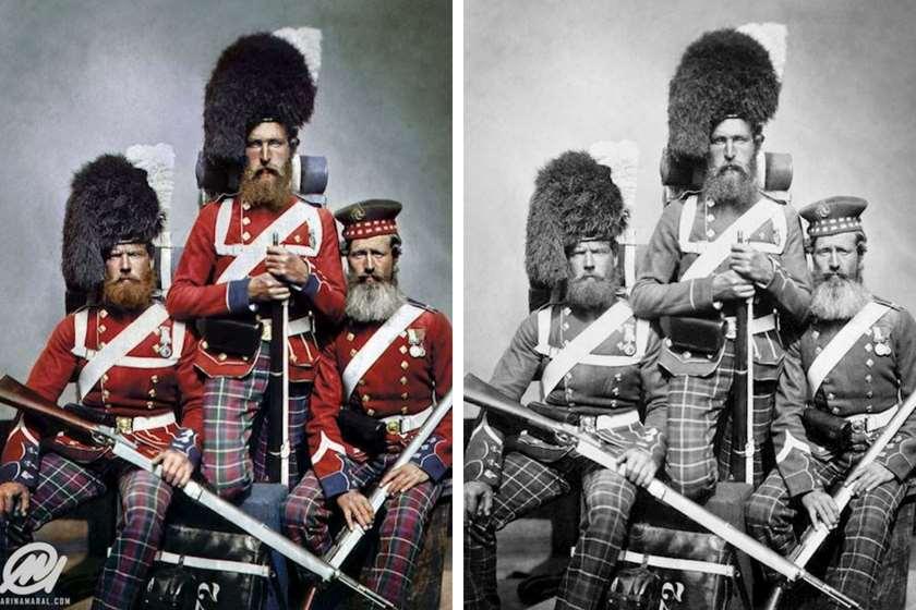 ყირიმის ომის მონაწილეები  უილიამ ნოუბლი, ალექსანდერ დევისონი და ჯონ ჰარპერი 1853 -1856