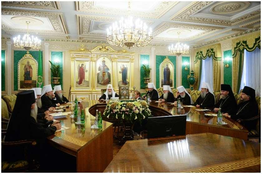 რუსეთის საპატრიარქოს  სინოდის სხდომა