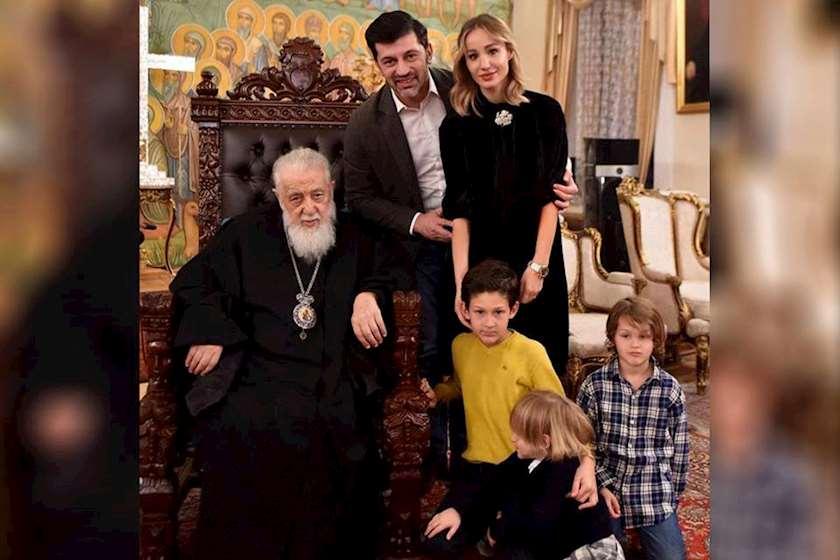 ილია მეორე, კახა კალაძე და მისი ოჯახი