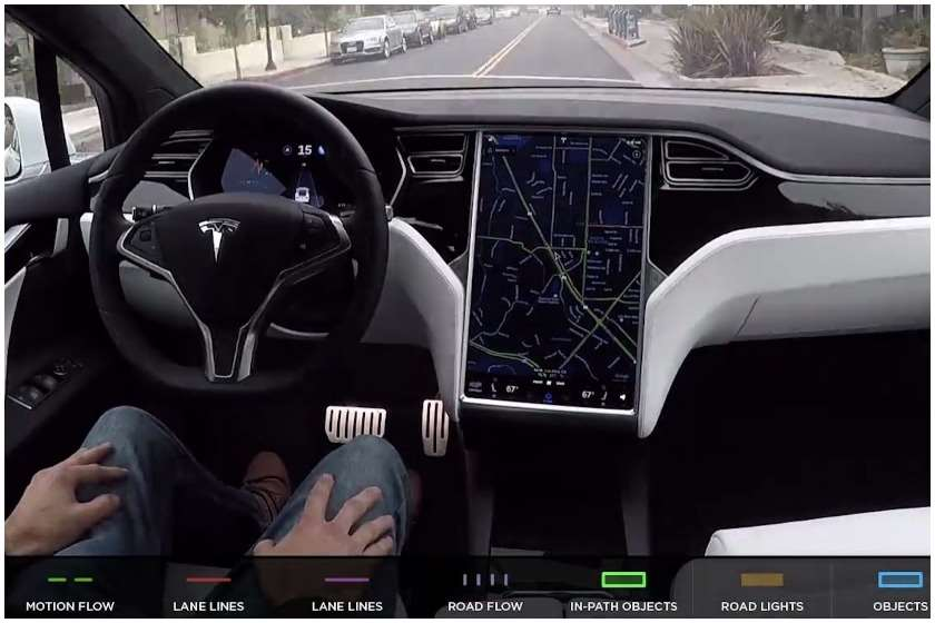 Tesla-ს უპილოტო ავტომობილი