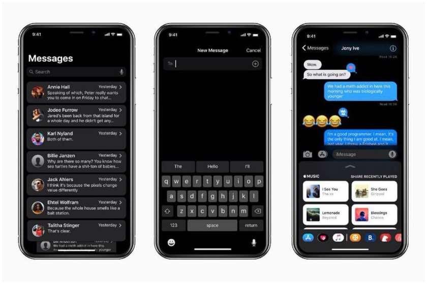 """""""შავი ფონი"""" iOS-ზე"""