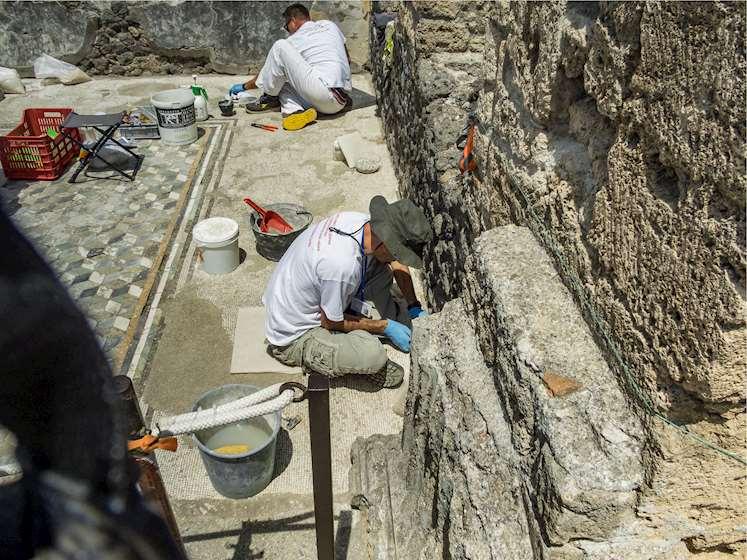 პომპეი, არქეოლოგიური გათხრები