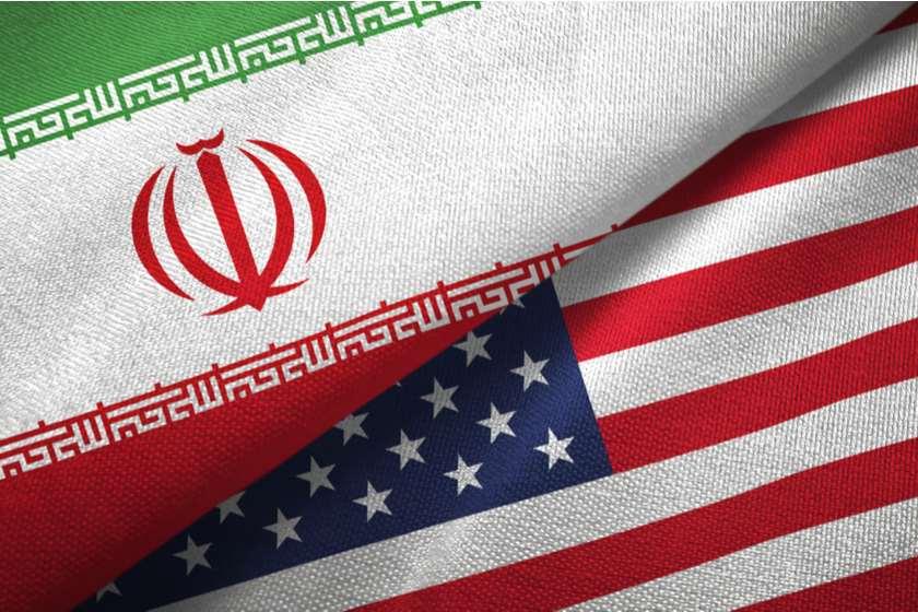 ირანი აშშ დროშები