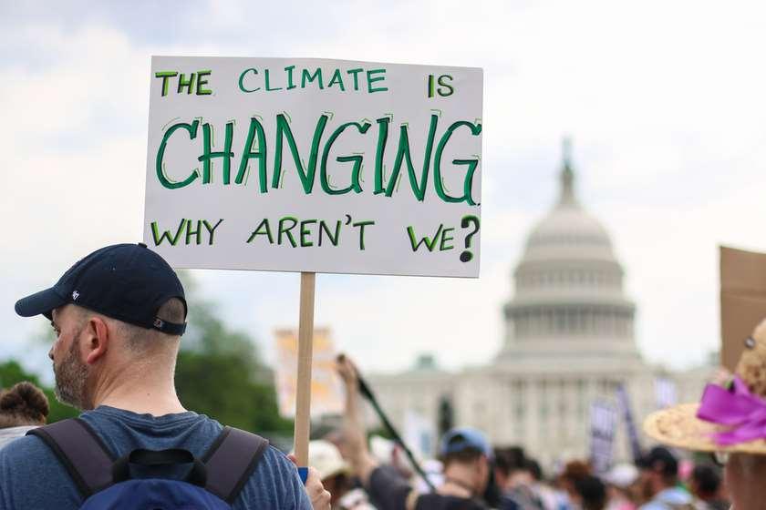 კლიმატის ცვლილება დემონსტრაცია