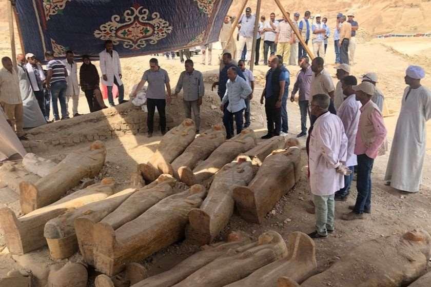 სარკოფაგების აღმოჩენა ეგვიპტე