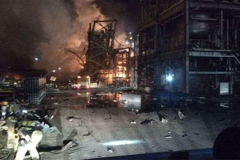 აფეთქება ქიმიური ქარხანა კატალონია
