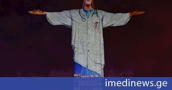 """რიო-დე-ჟანეიროში ქრისტეს ქანდაკება ექიმის ხალათით """"შემოსეს"""""""