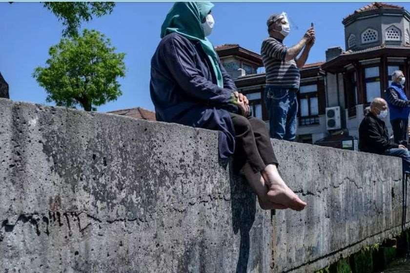 თურქეთი მოხუცები პარკში