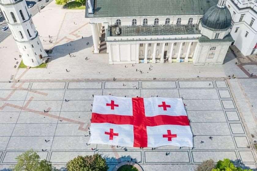 ვილნიუსი საქართველოს დროშა