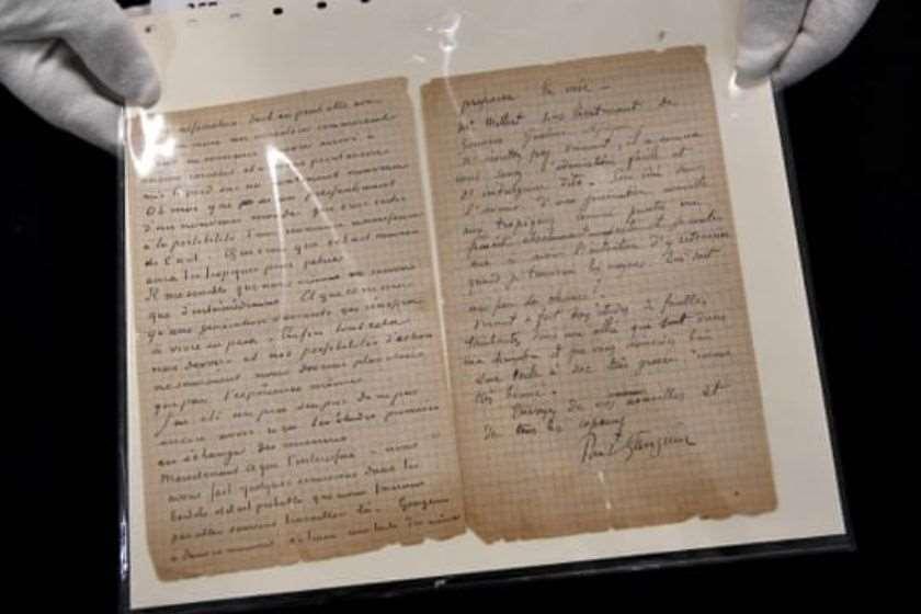 ვან გოგის და გოგენის წერილი