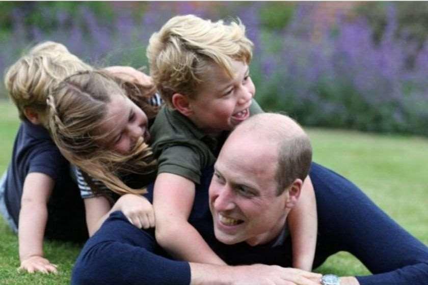 პრინცი უილიამი შვილებთან ერთად დაბადების დღე