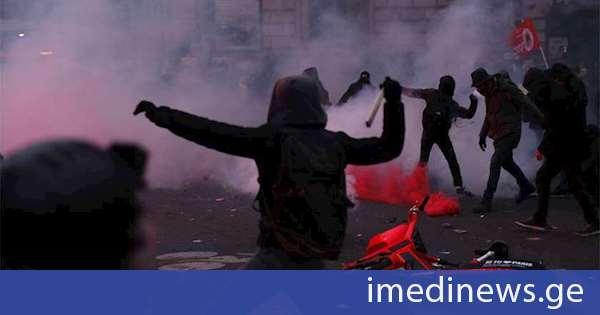 პარიზში საპროტესტო აქციაზე 75 ადამიანი დააკავეს