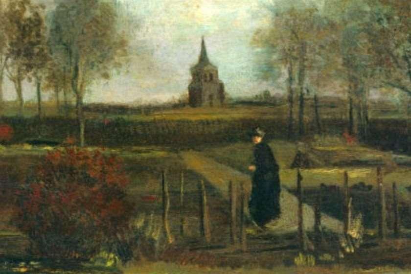 """""""მღვდლის ბაღი ნიუენენში გაზაფხულზე"""""""