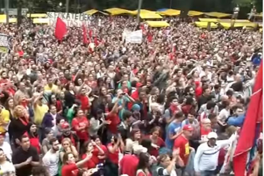 საპროტესტო აქცია ბრაზილიაში